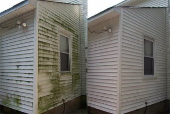Powerwashing Mobile Home